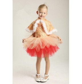 Kids girls leotard tutu skirt ballet dance dress fuchsia fuchsia green blue