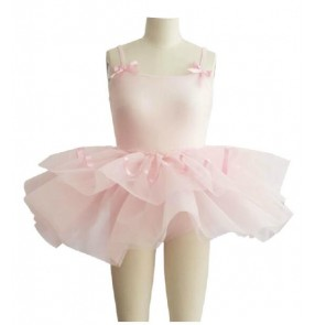kids girls pink leotard tutu skirt ballet dance dress skating dress