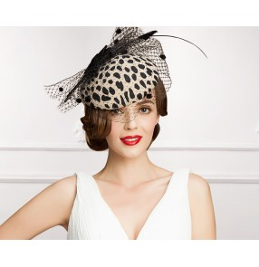 Ladies Church Feather Pillbox Hat Wedding Bridal Fascinator High Quality Elegant Queen Fedora wedding hat