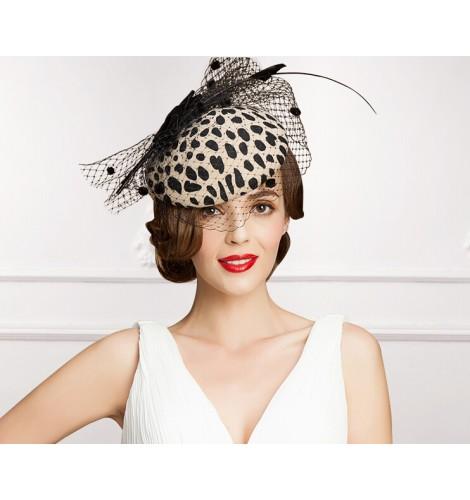 Ladies Church Feather Pillbox Hat Wedding Bridal Fascinator High ... 7d32de5a0722