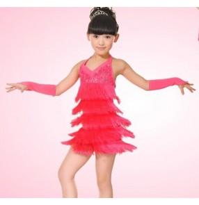 Latin dance clothes Child Latin dance skirt girl latin dance dress latin skirts