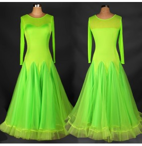 Latin Dance Dress Sequins Ballroom Dancing Dresses