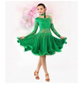 Latin Dance Skirt Blue/Yellow/Green Lady Dress For Dancing Latin Dance Dresses For Sale Tanto/Cha cha/Rumba Competition Dress