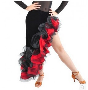 Latin dance skirt latin salsa dresses Professional Latin skirts womens flamenco dresses