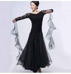 Latin salsa tango Cha cha Dress long sleeves waltz dance dress flamenco dance dress
