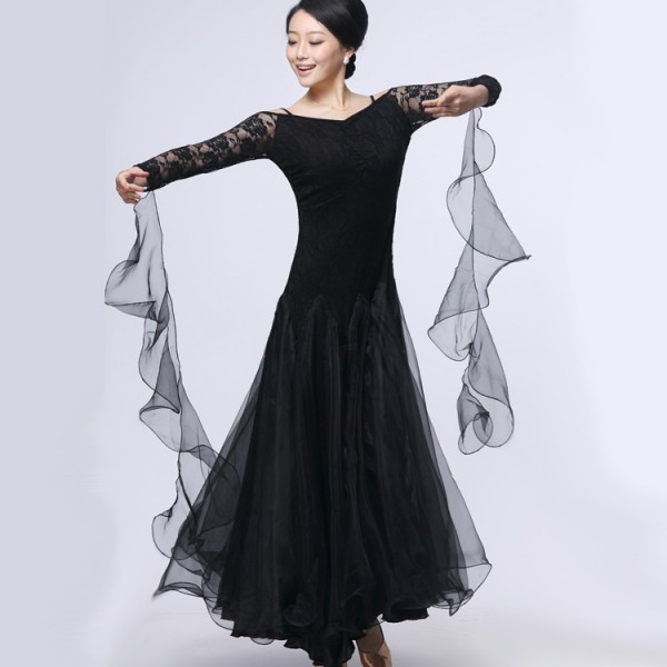 18f23c7753bc Latin salsa tango Cha cha Dress long sleeves waltz dance dress ...