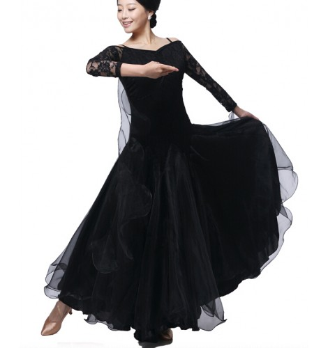 914ad35dfcce Latin salsa tango Cha cha Dress long sleeves waltz dance dress flamenco  dance dress