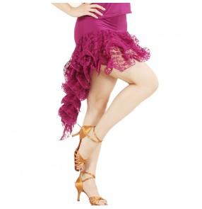 Latin Salsa Tango Rumba Cha Cha Costumes Modern Exercise Women or Girl Latin dance skirt Mini Latin Dance Wear