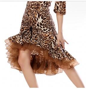 Latin Salsa Tango Rumba Cha Cha Costumes Modern Exercise Women or Girl Latin skirt ballroom dance Latin Dance Wear