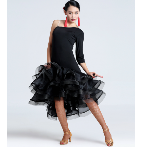 Leopard sleeveless latin dance dress