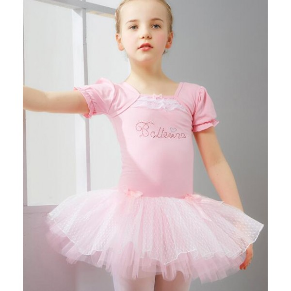 48aca677e Light blue pink short sleeves girls kids toddlers baby child competition  gymnastics practice ballet tutu skirt dance costumes dresses