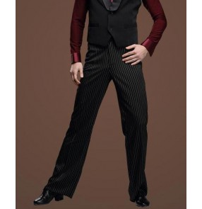 Men's latin dance pants ballroom modern dance striped pattern