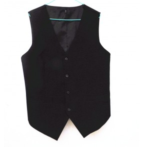 Men's male black latin ballroom waltz dance top vest