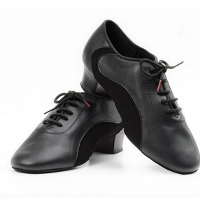 Men's male high quality genuine  leather upper soft sole black competition tango ballroom waltz latin dance shoes