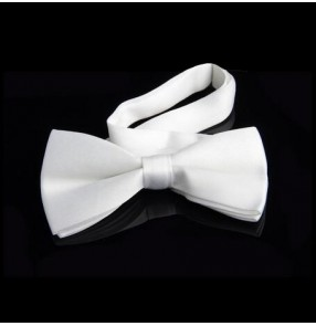 Men's man male boys white red black high quality  latin dance ballroom waltz dance shirt accessory bowknot