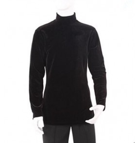 Men's man male high quality warm velvet long sleeves turtle neck latin dance shirt ballroom dance top waltz dance tops