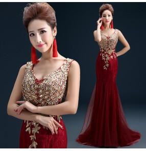Mermaid Evening dresses Luxury Lace Long Prom Dress