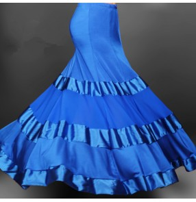 Modern dance big hem skirted dress
