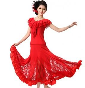 Modern Dance two piece Dress Women's Ballroom Dance Dresses salsa Dancing Dress Training Waltz/Tango Dres