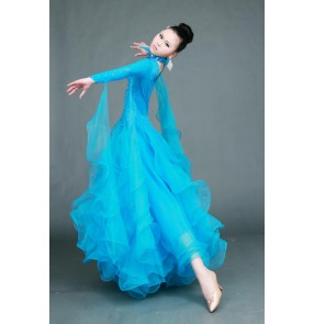 Modern skirts ballroom dancing ballroom tango waltz big swing dress costume contest
