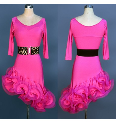 New Latin salsa tango Cha cha Ballroom Competition Diamond Paste Dance Dress