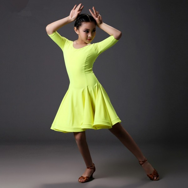 Neon colored dress for girls