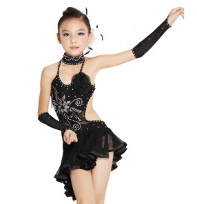 Paillette Girl Child Girl Dress Children Outerwear Girls Dance Costume Dancewear Latin Girls