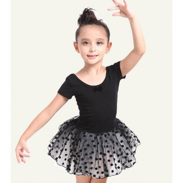 Pink Black Colored Shorts Sleeves Girls Kids Child