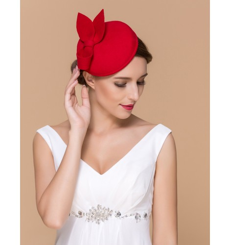 b28feb1c2ff Red black Womens Dress Vintage Wool Pillbox Hat Party Wedding Bow Veil