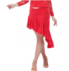 Red Latin Dance Skirts