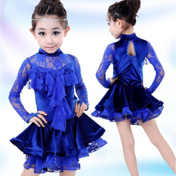 Royal Blue Colored Girls Kids Toddlers Baby Children