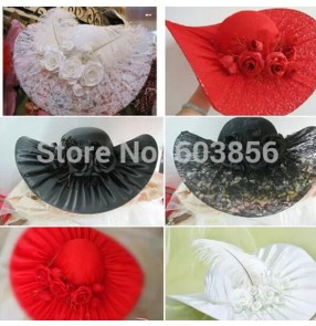 Topper wedding dress accessories With rose flowers hat wedding accessories / bridal lace hats