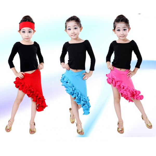 Well-liked Turquoise fuchsia red and black patchwork Girls children child  OS55