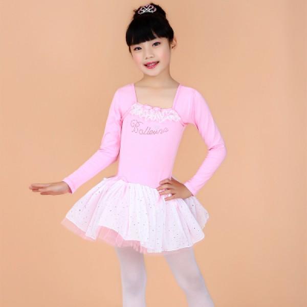 2f55ae310a60 gymnastics leotard for girls short sleeves Child Ballet Dress ...