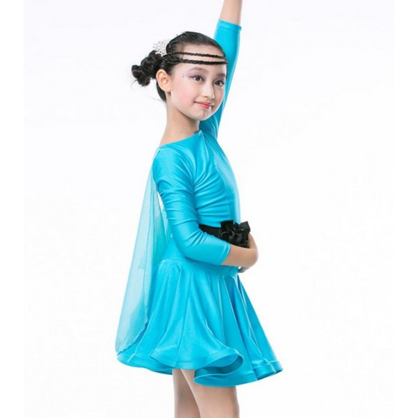 Famous Turquoise colored children kids child girls cap sleeves boat neck  JT95