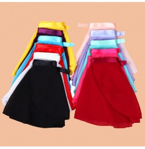 Violet yellow red white wine red pink fuchsia turquoise black girls kids toddlers children practice gymnastics practice ballet tutu dance chiffon skirts ( only skirt)