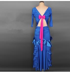 Waltz big hem skirted dress ballroom dance dress