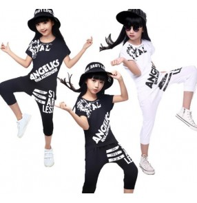 White black two colored girls kids child children toddlers growth teen modern dance street dance jazz hip hop dance costumes
