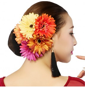 Women children dance headwear  flower