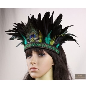 Women peacock feather Hair Accessories fascinator hair/Wedding accessories Handmade hair band High Cheap