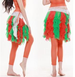Women's elastic belly dance leggings pants multi colors