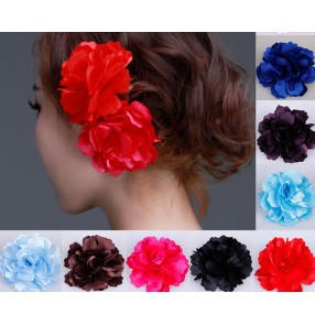 Women's girls ballroom flamenco waltz dance accessory head flowers head wear