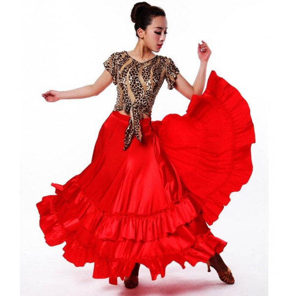 Women\'s Girls competition professional red spanish bull dance big ...