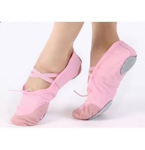 Women's girls convas soft sole ballet belly dance shoes
