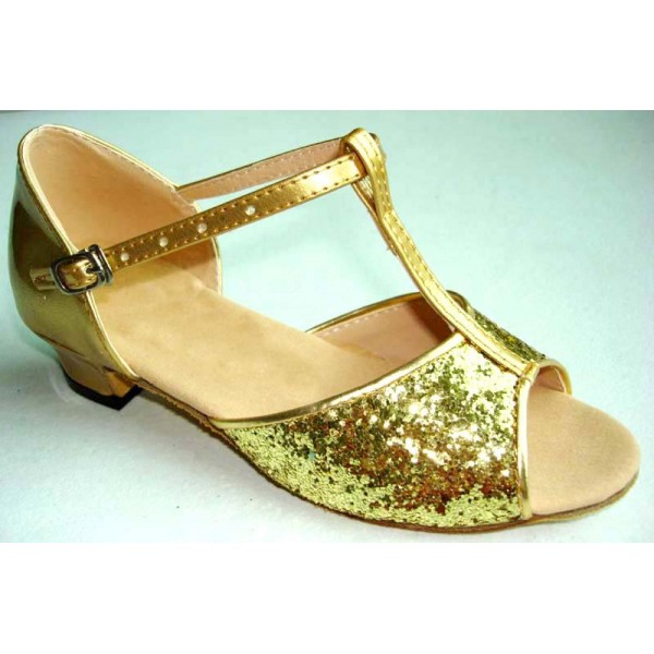 Women s girls kids children child silver gold sequined soft cow leather  shoes sole competition latin ballroom dance shoes sandals 9ec7e9813