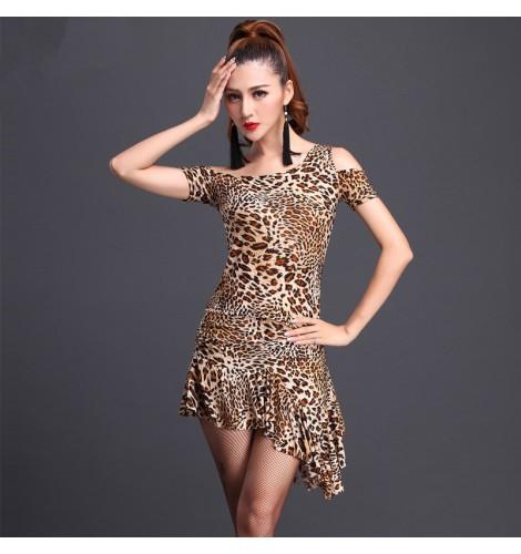 S Las Female Leopard Black Red