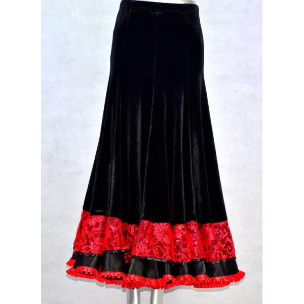 Women's long velvet skirt – Fashionable skirts 2017 photo blog