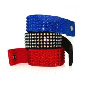 Women's latin dance  belt accessory rhinestone sashes one size royal blue red black