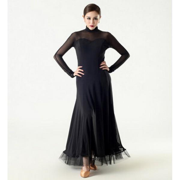 women&39s modern full skirt ballroom dancing dress black