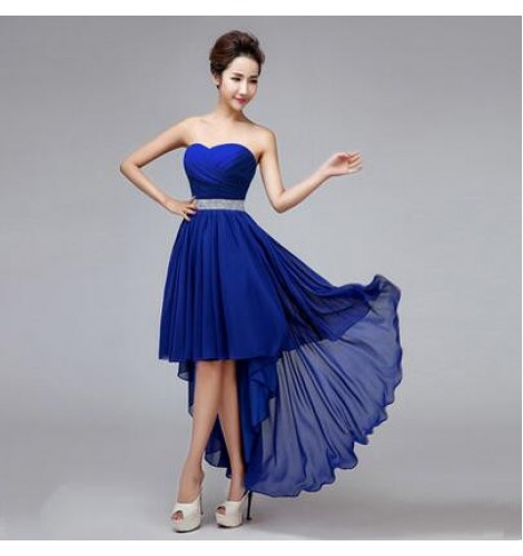 Women S Off Shoulder Diamond Decoration Evening Wedding Party Dress Bridesmaid Dress Coral Royal Blue Red